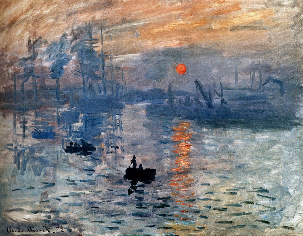 an analysis of the impressionist style of painting in the monets impression the sunrise