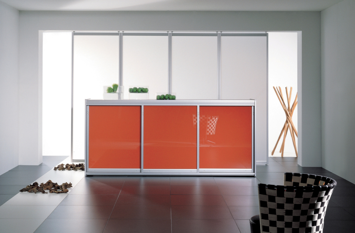 Matelux Clear + Lacobel Orange Classic
